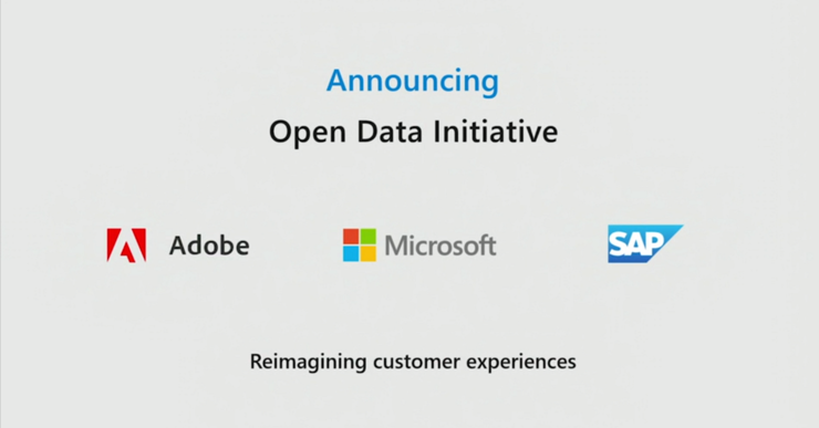 重磅!Microsoft、SAP和Adobe宣布开放数据计划